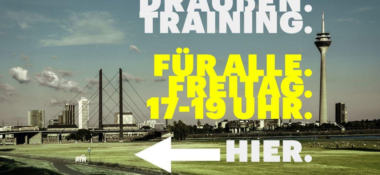 Draußen Training für alle Mitglieder der Sportschule Alex am Freitag ab 17 Uhr